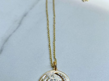 Selling with online payment: Cowrie Shell  14k plated ~Necklace