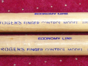 Selling with online payment: Vintage pair of ROGERS Finger control model economy line drumstic