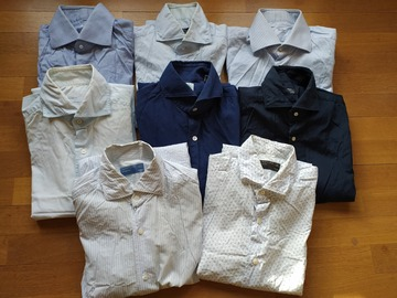 Selling with online payment: Pre-owned Neapolitan Shirts size 15.5/39