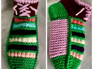Vente au détail: Chaussons bottines en tricot