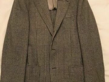 Selling with online payment: NEW Ring Jacket Men's Cashmere Blazer Grey/Cream Prince of Wales