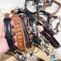 Liquidation/Wholesale Lot: 100 Leather bracelets unisex. $0.45 Each. Opportunistic deal.