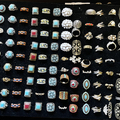 Liquidation/Wholesale Lot: 500 Costume Rings. Large variety of designs. $0.45 Each