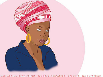 For Sale: Happy Mother's Day Card – Head Wrap Mum