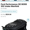 Selling without online payment: Boss 302 manifold
