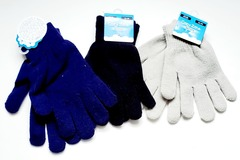 Liquidation/Wholesale Lot: Cozy Zone Kids Winter Stretch Gloves – One Size Fits Most
