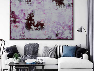 Sell Artworks: XXL Abstract Day Dreaming 120 X 80cm Textured Abstract Painting