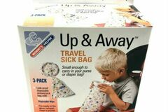 Liquidation/Wholesale Lot: Up & Away Travel Sick Bag 3 per Pack 48 pack lot