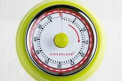 Liquidation/Wholesale Lot: Kikkerland Magnetic Kitchen Timer, Green-lot of 24