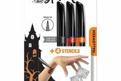 Liquidation/Wholesale Lot: BIC BodyMark Temporary Tattoo Marker W/Halloween stencils -24pack