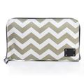 Liquidation/Wholesale Lot: ADORN – Women's Travel Zippered Cosmetic Bag – Chevron Design