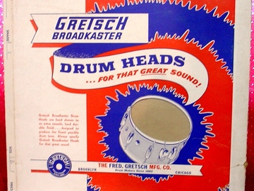 Selling with online payment: 1950s Original Gretsch Broadkaster drum head box