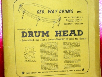 Selling with online payment: Rare 1950s Original George Way drum head box