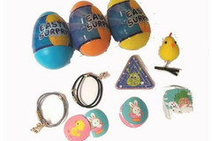Liquidation/Wholesale Lot: 200 Eggs - Easter Surprise Toy-Filled Plastic Egg – 4″ Tall
