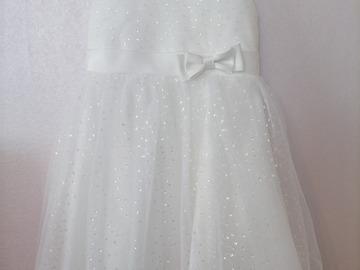 Ilmoitus: Morsiustytön mekko 110cm