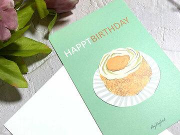 : Hong Kong old-style Apricot Jam Mini Cakes Birthday card