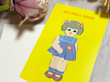 : Hong Kong style get well soon postcard, greeting card
