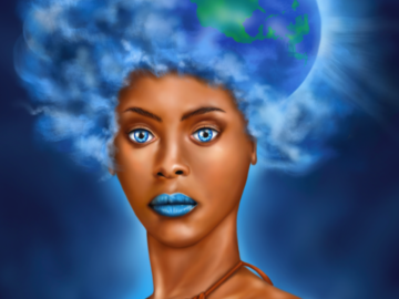 Sell Artworks: Mother Earth (Ready-to-hang)