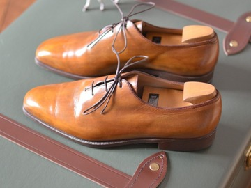 "Online payment: Berluti ""Alessandro"" chestnut oxfords, with shoetrees UK 7,5"