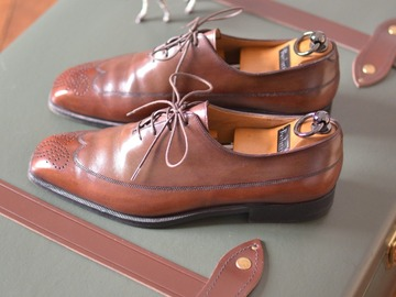 Online payment: Berluti wholecut oxford shoes, with shoetrees UK7,5