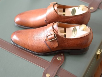 "Online payment: BNWT Edward Green ""Troon"" derby monk shoes UK 6,5"
