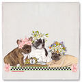 Selling: French Bulldog Dog Floral Kitchen Dish Towel Pet Gift