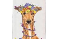 Selling: Greyhound Tan Kitchen Dish Towel Pet Gift