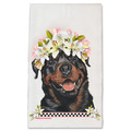 Selling: Rottweiler Dog Floral Kitchen Dish Towel Pet Gift