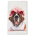 Selling: Saint Bernard Dog- Dish Towel Pet Gift