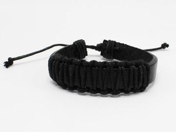 Liquidation/Wholesale Lot: Dozen Mens Faux Leather Bracelets B2071