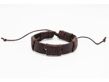 Liquidation/Wholesale Lot: Dozen Mens Faux Leather Bracelets B2064