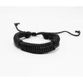 Liquidation/Wholesale Lot: Dozen Mens Faux Leather Bracelets B2063