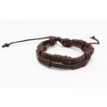 Liquidation/Wholesale Lot: Dozen Mens Faux Leather Bracelets B2065