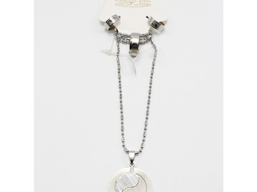 Liquidation/Wholesale Lot: Dozen Yin Yang Stainless Steel Necklace Earrings Ring Sets
