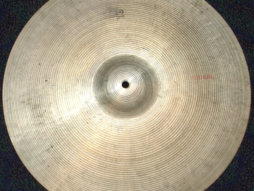 "Selling with online payment: 1970s Ludwig Standard  PAISTE 18"" medium crash cymbal Swiss made"
