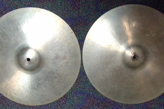 """Selling with online payment: 1970s Ludwig Standard by PAISTE 14"""" medium hi-hats Swiss made"""