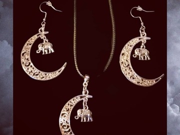 For Sale: Crescent Moon and Elephant Set