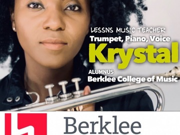 Piano - 60 Minute: Piano and Trumpet Lessns with Krystal (60 min TRIAL LESSON)