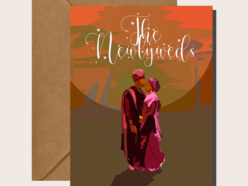 For Sale: The African  Newlyweds - Cards for Couples / Weddings