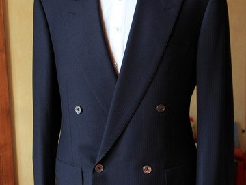 Online payment: Nervesa Italian DB navy suit 38UK/48IT