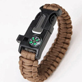 Liquidation/Wholesale Lot: Tan Survival Wrap Emergency Paracord Bracelet W/ Fire Starter
