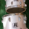 Selling with online payment: Pair of Rogers '70s Big R toms (10x14, 12x15) project / recover