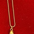 "Liquidation/Wholesale Lot: 50 pcs-- 16"" 14kt goldtone Rope chain with Rhinestone ball $.99ea"