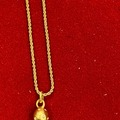 "Liquidation/Wholesale Lot: 12 pcs-14kt Goldtone Rope necklace 16"" w/rhinestone ball $1.99"