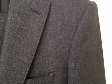 Online payment: MTM Scavini dark grey suit, Holland & Sherry fabric 38UK/48FR