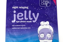 Liquidation/Wholesale Lot: 25 Clean & Clear Night Relaxing Jelly Eye Sheet Mask