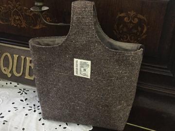 Vente au détail: sac en tweed à une poignée