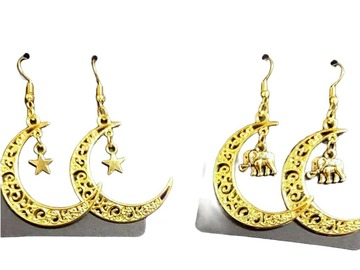 For Sale: Crescent Moon Earrings