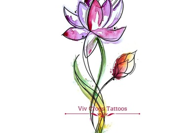 Tattoo design: Lotus