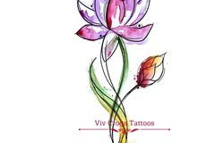 Tattoo design: Lotus